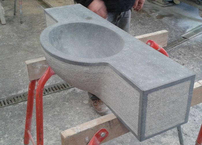 Wasbakken  in natuursteen, marmer, graniet, arduin, Aalst, Erembodegem, Oost # Wasbak Arduin_010409